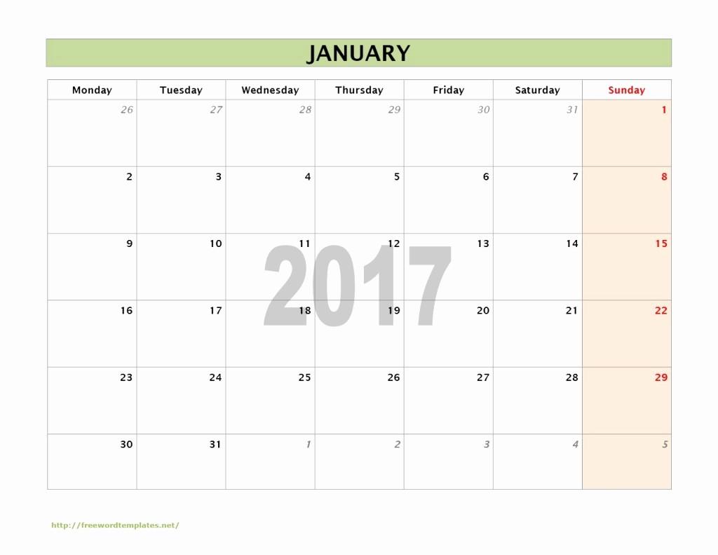 Calendar Templates for Microsoft Word Fresh 2017 Calendar Templates
