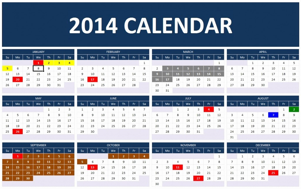 Calendar Templates for Microsoft Word Inspirational 2014 Calendar Templates