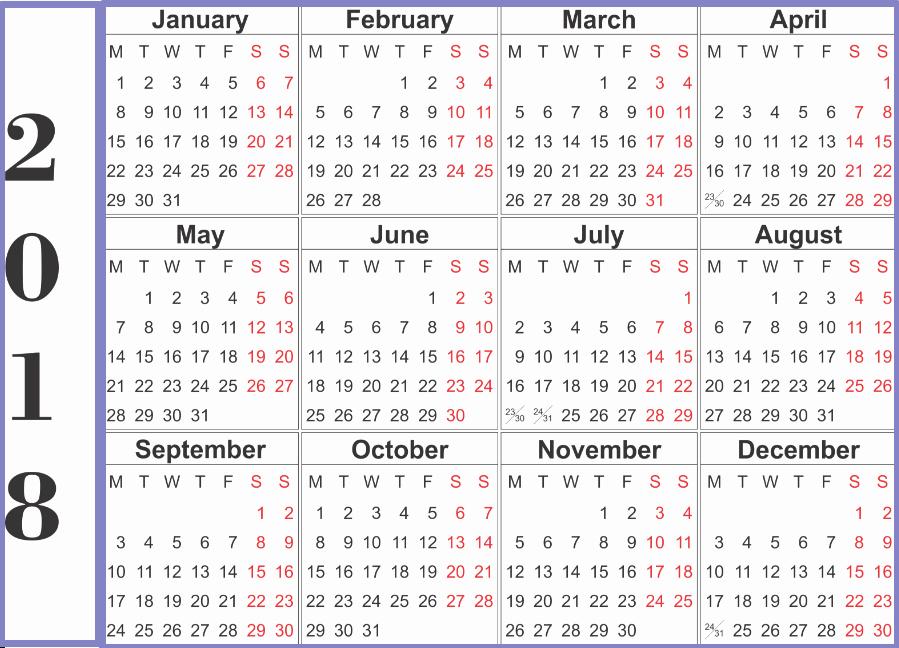 Calendar Templates for Microsoft Word Inspirational 2018 Calendar Word Printable Template
