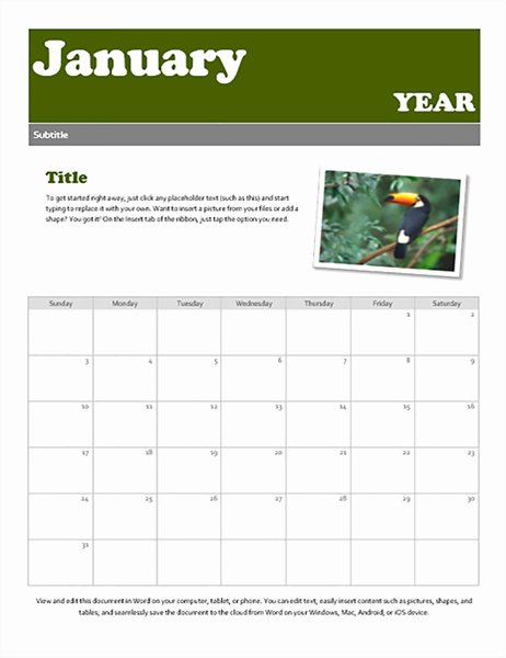 Calendar Templates for Microsoft Word Lovely Calendars Fice