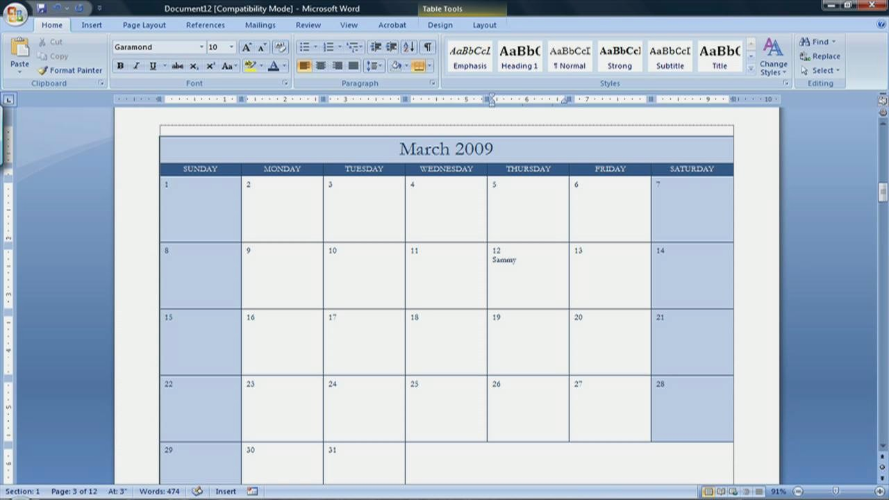 Calendar Templates for Microsoft Word New Best S Of Create A Blank Calendar Free Printable