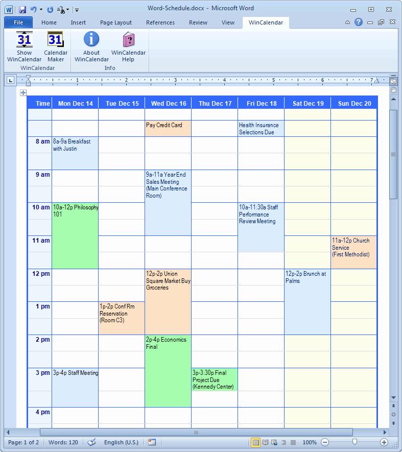 Calendar Templates for Microsoft Word Unique Calendar Creator for Microsoft Word with Holidays