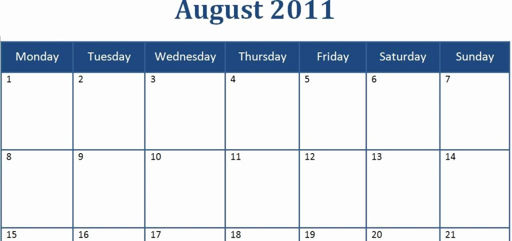 Calendar Templates for Ms Word Inspirational Microsoft Word 2014 Monthly Calendar Template