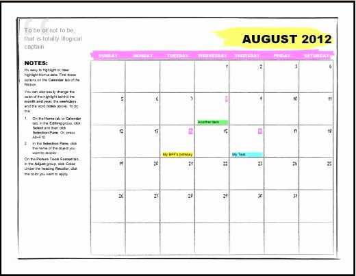 how to make a calendar template on microsoft word 2010