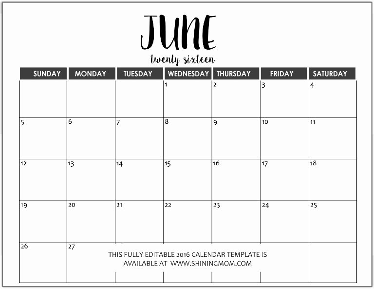 Calendar Templates for Ms Word Luxury Just In Fully Editable 2016 Calendar Templates In Ms Word