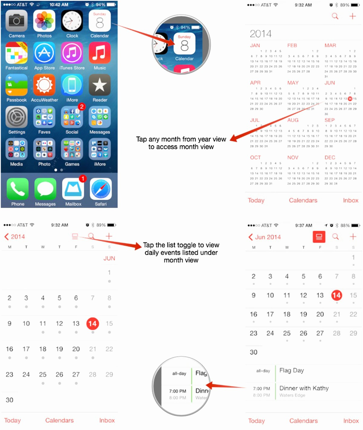 Calendar that I Can Edit Awesome How to Switch Calendar Views On Your iPhone or Ipad