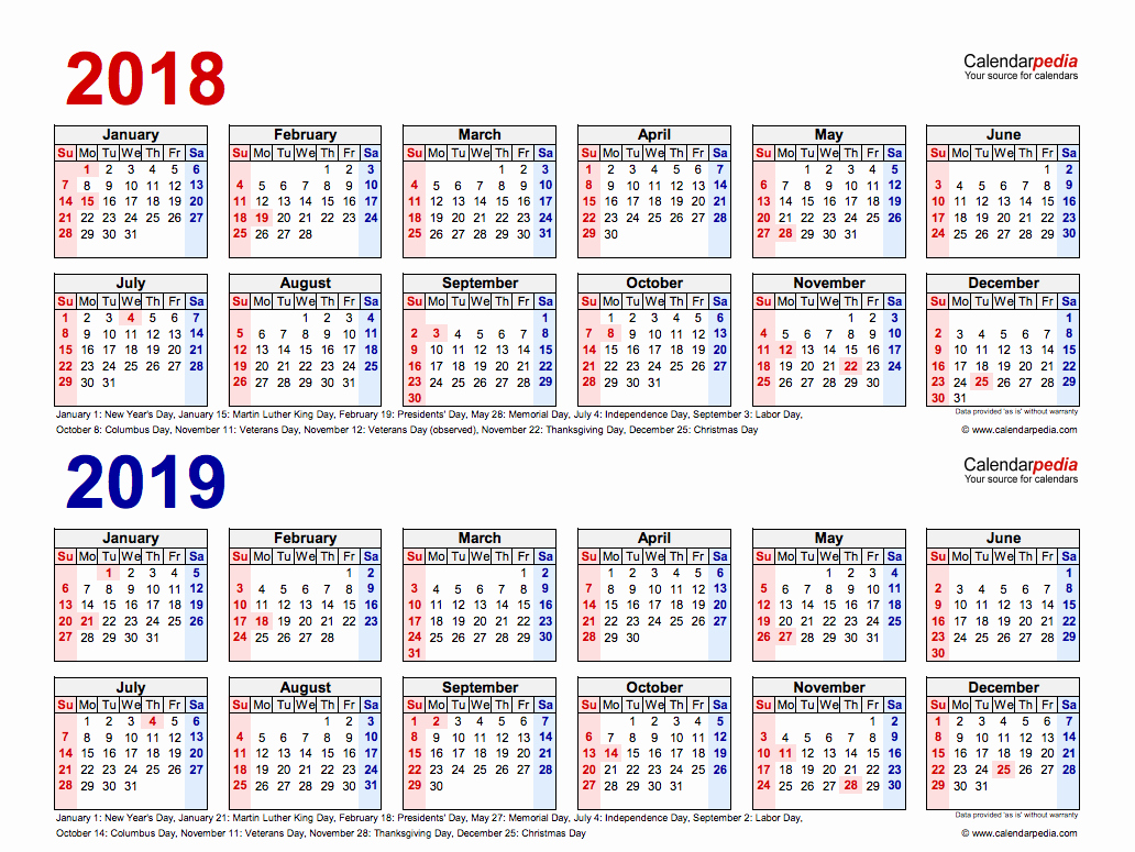 Calendar that I Can Edit Best Of 2018 19 Two Year Calendars Printable Templates