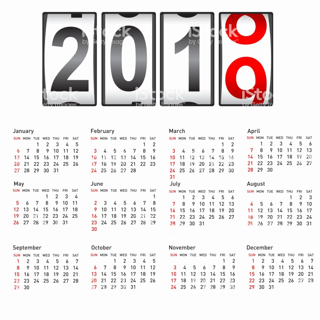 Calendar that I Can Edit Elegant 2019 New Year Counter Change Calendar Illustration Stock