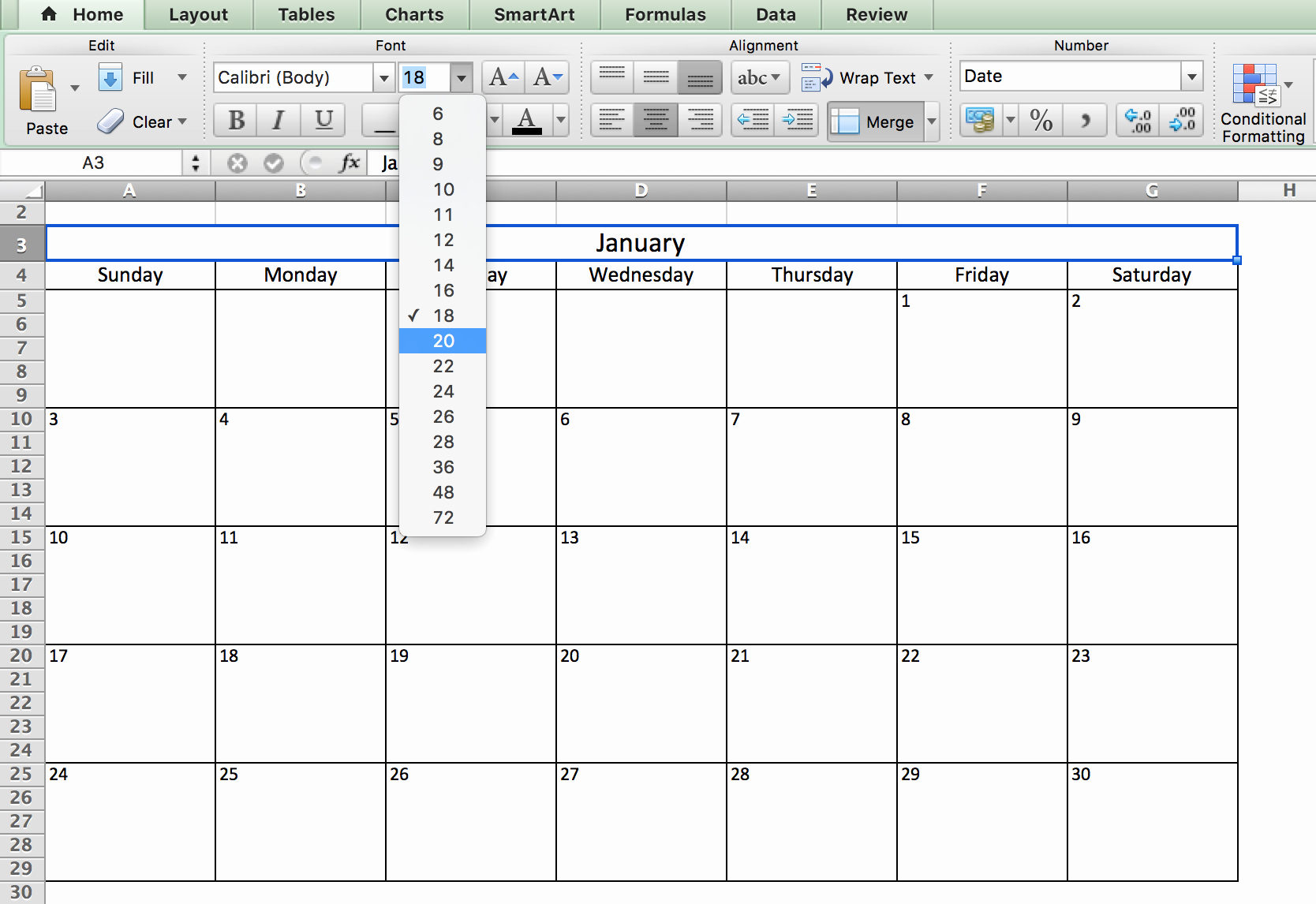 Calendar that I Can Edit Inspirational Make A 2018 Calendar In Excel Includes Free Template