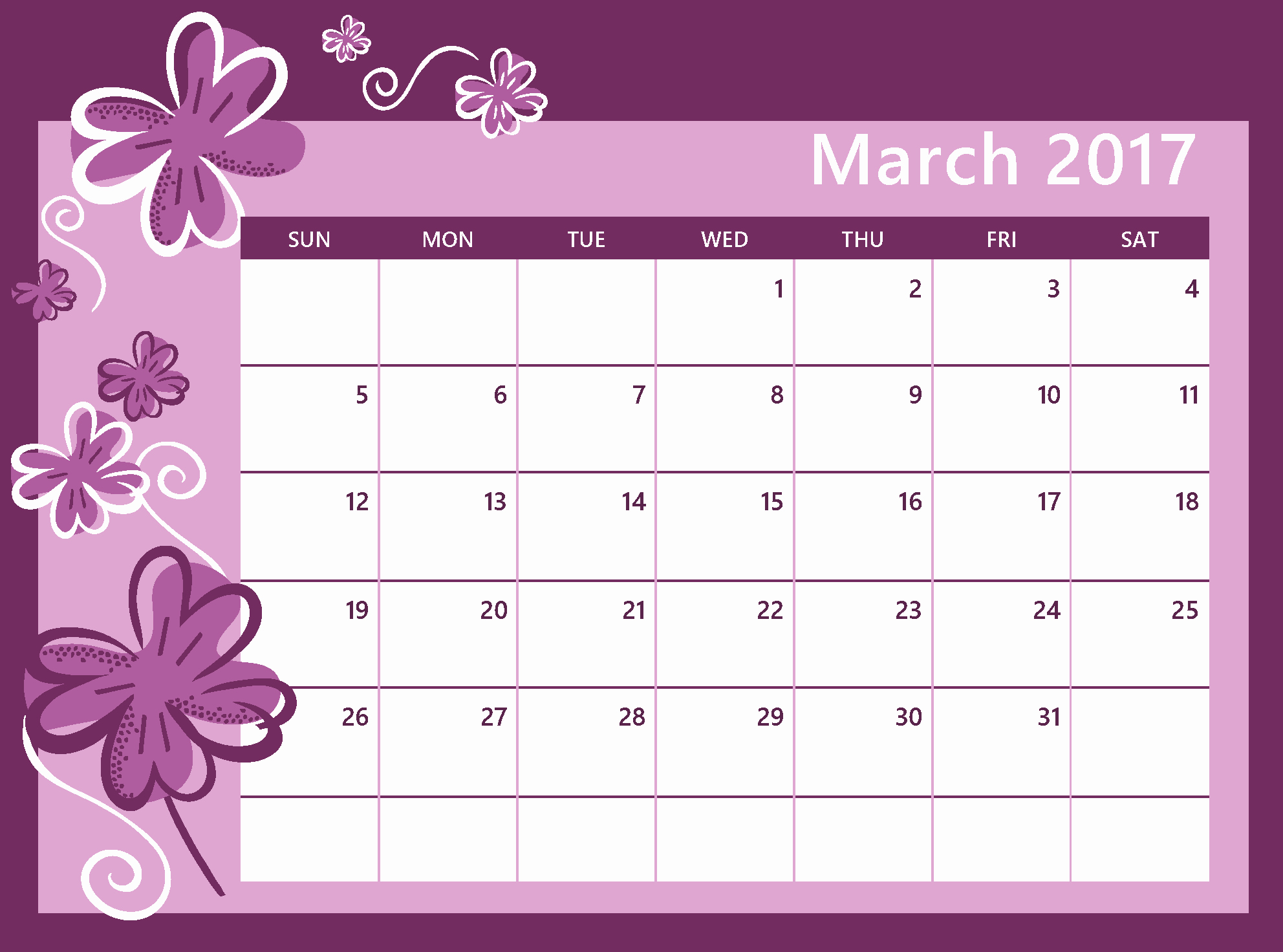 Calendar that I Can Edit Lovely March 2017 Calendar to Edit Calendar and
