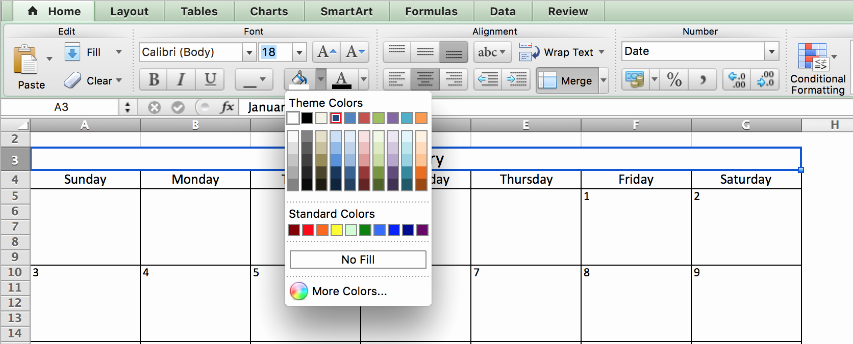 Calendar that I Can Edit New Make A 2018 Calendar In Excel Includes Free Template