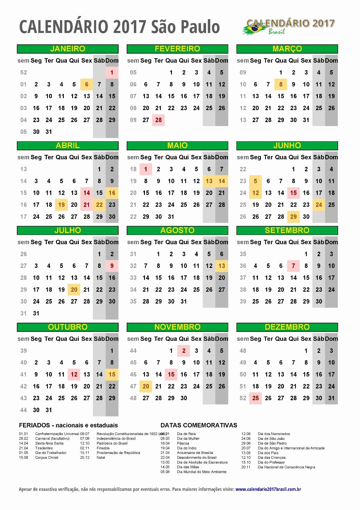 Calendario Anual 2017 Para Imprimir Awesome CalendÁrio 2017 Para Imprimir Feriados