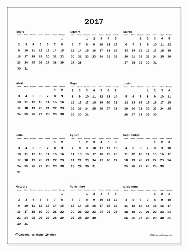 Calendario Anual 2017 Para Imprimir Awesome Calendario 2017 Para Imprimir Gratis Calendario Anual