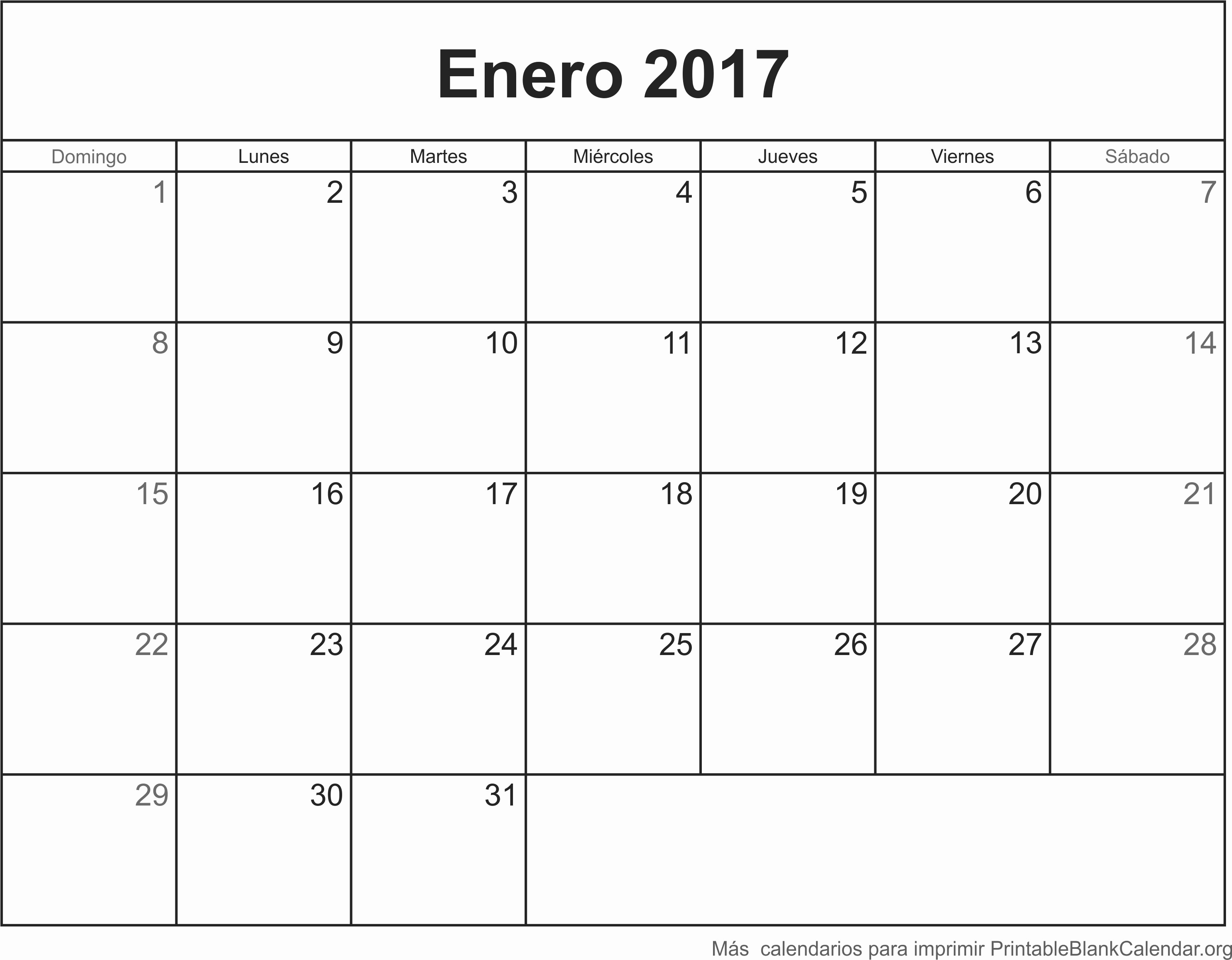 Calendario Anual 2017 Para Imprimir Beautiful Enero 2017 Calendario Para Imprimir Calendarios Para