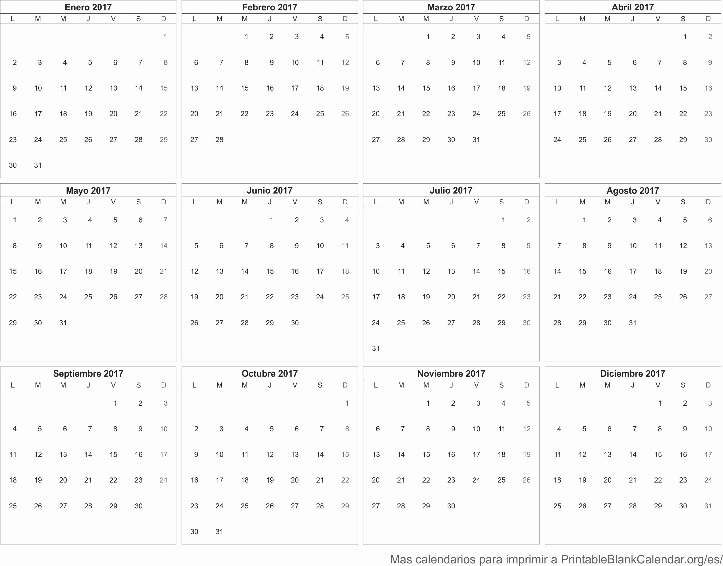 Calendario Anual 2017 Para Imprimir Best Of 2017 Calendario Para Imprimir Calendarios Para Imprimir