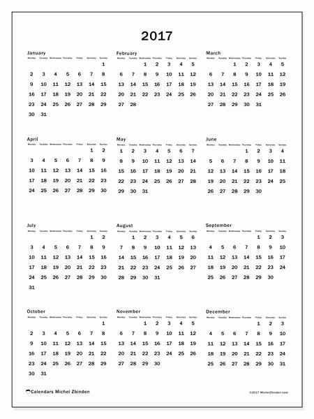 Calendario Anual 2017 Para Imprimir Best Of Calendar 2017 Ms Michel Zbinden