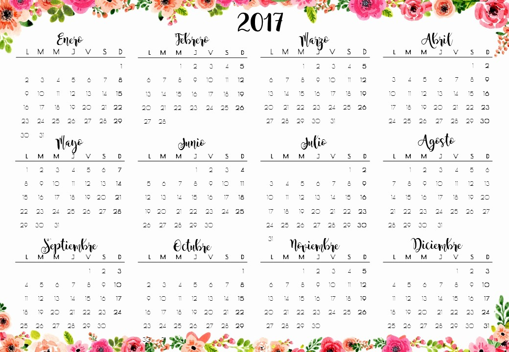 Calendario Anual 2017 Para Imprimir Best Of Heli Papeles ♥ Calendarios 2017 Y Planner Semanal Imprimible