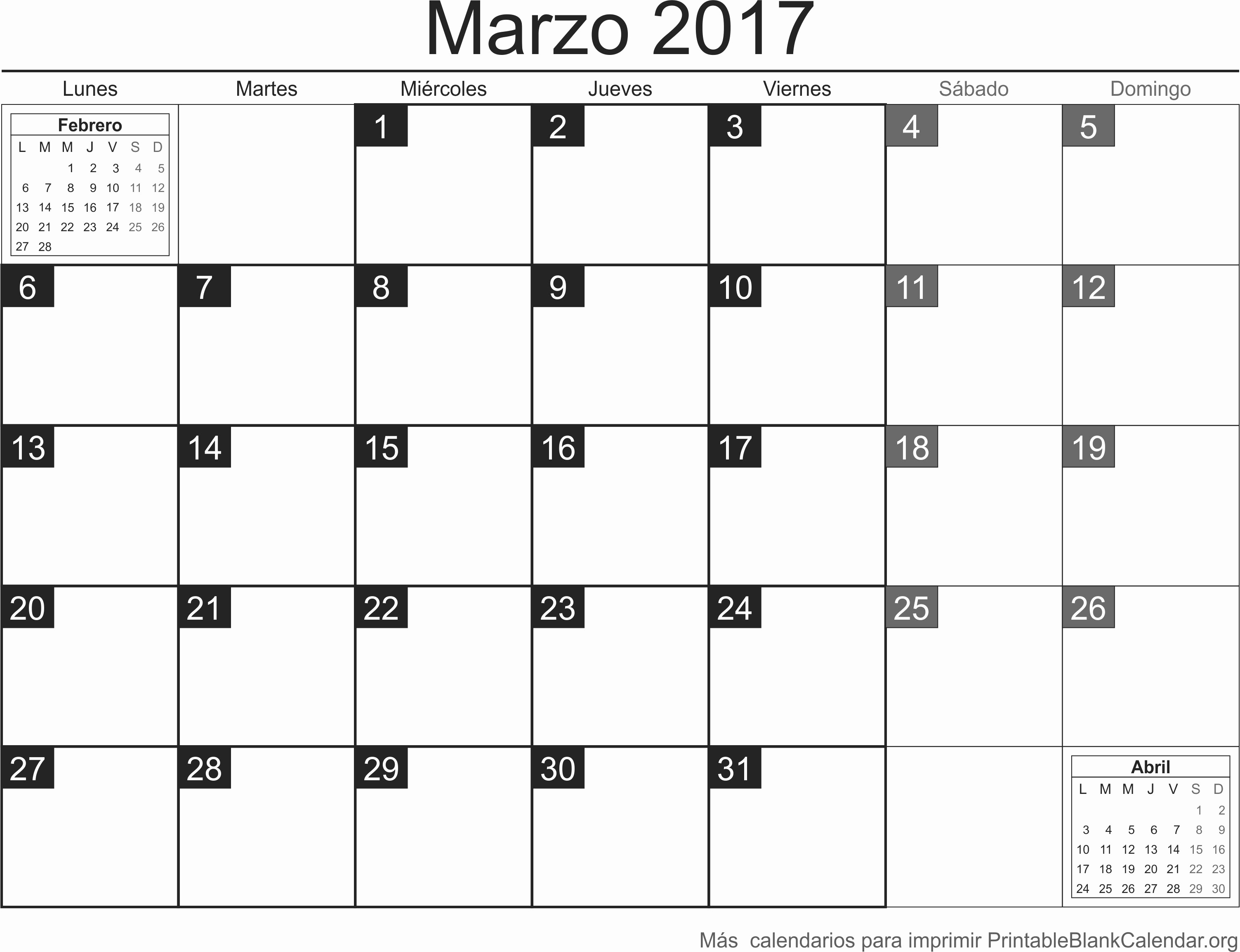 Calendario Anual 2017 Para Imprimir Best Of Marzo 2017 Calendario Para Imprimir Calendarios Para