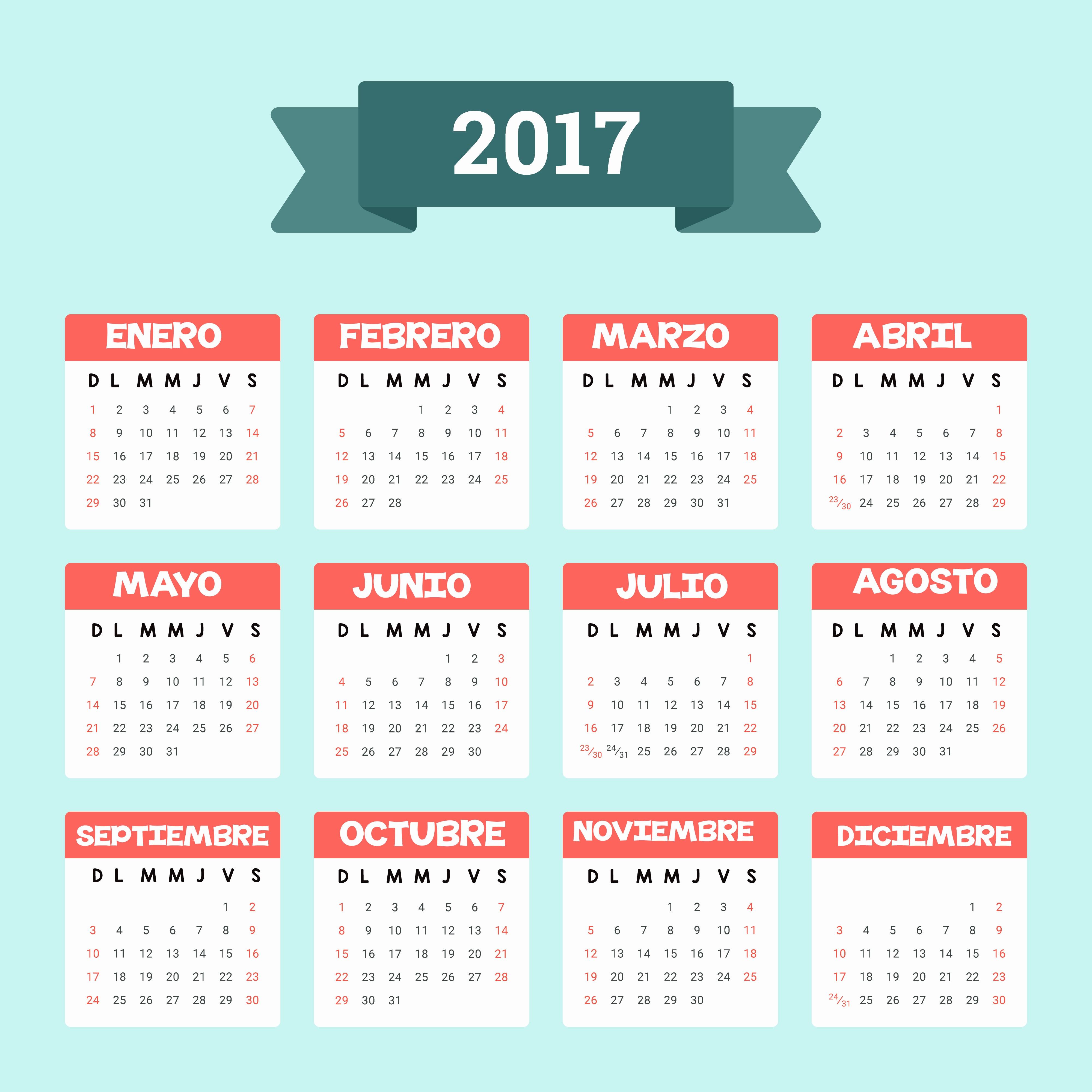Calendario Anual 2017 Para Imprimir Elegant Calendario 2017 Más De 150 Plantillas Para Imprimir Y