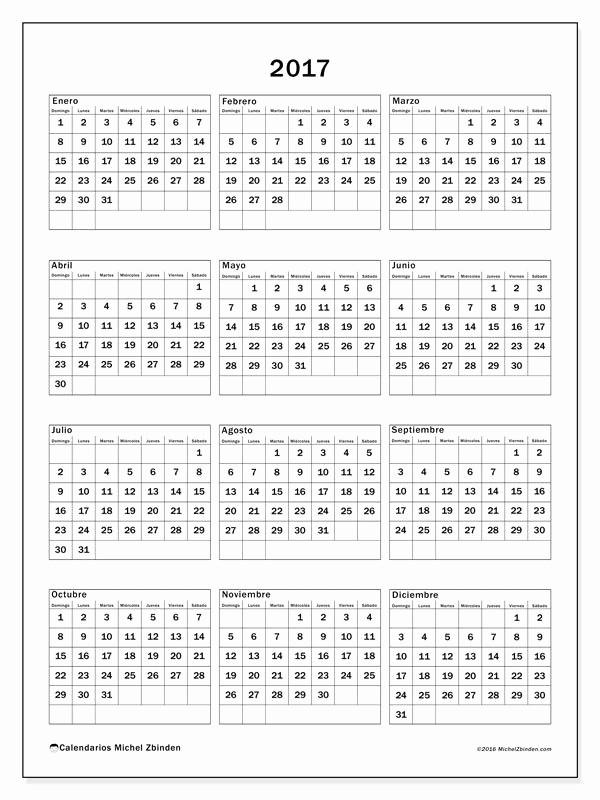 Calendario Anual 2017 Para Imprimir Elegant Gratis Calendarios Para 2017 Para Imprimir
