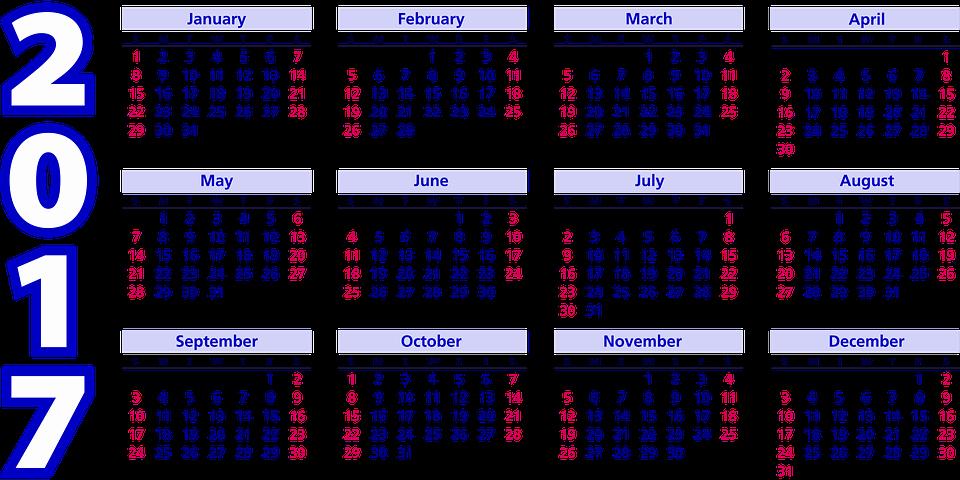 calendario 2017 para imprimir modelos
