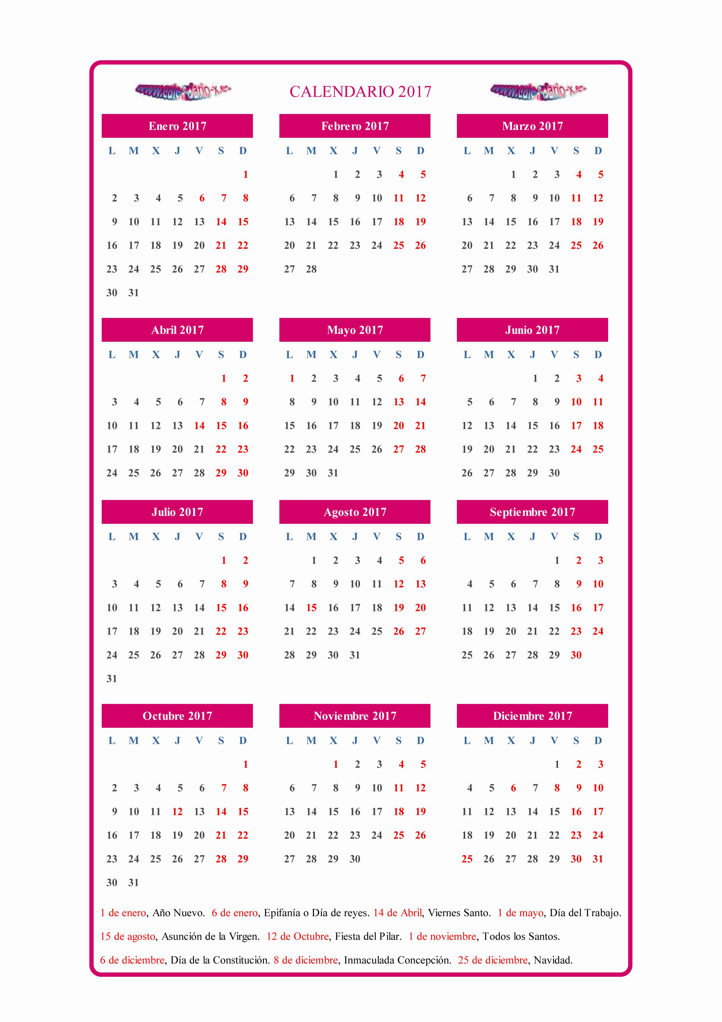 Calendario Anual 2017 Para Imprimir Fresh Map Calendario 2017 Para Imprimir