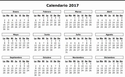 Calendario Anual 2017 Para Imprimir Inspirational Calendarios 2017 Y 2018 – Calendario Puro Pelo 2017