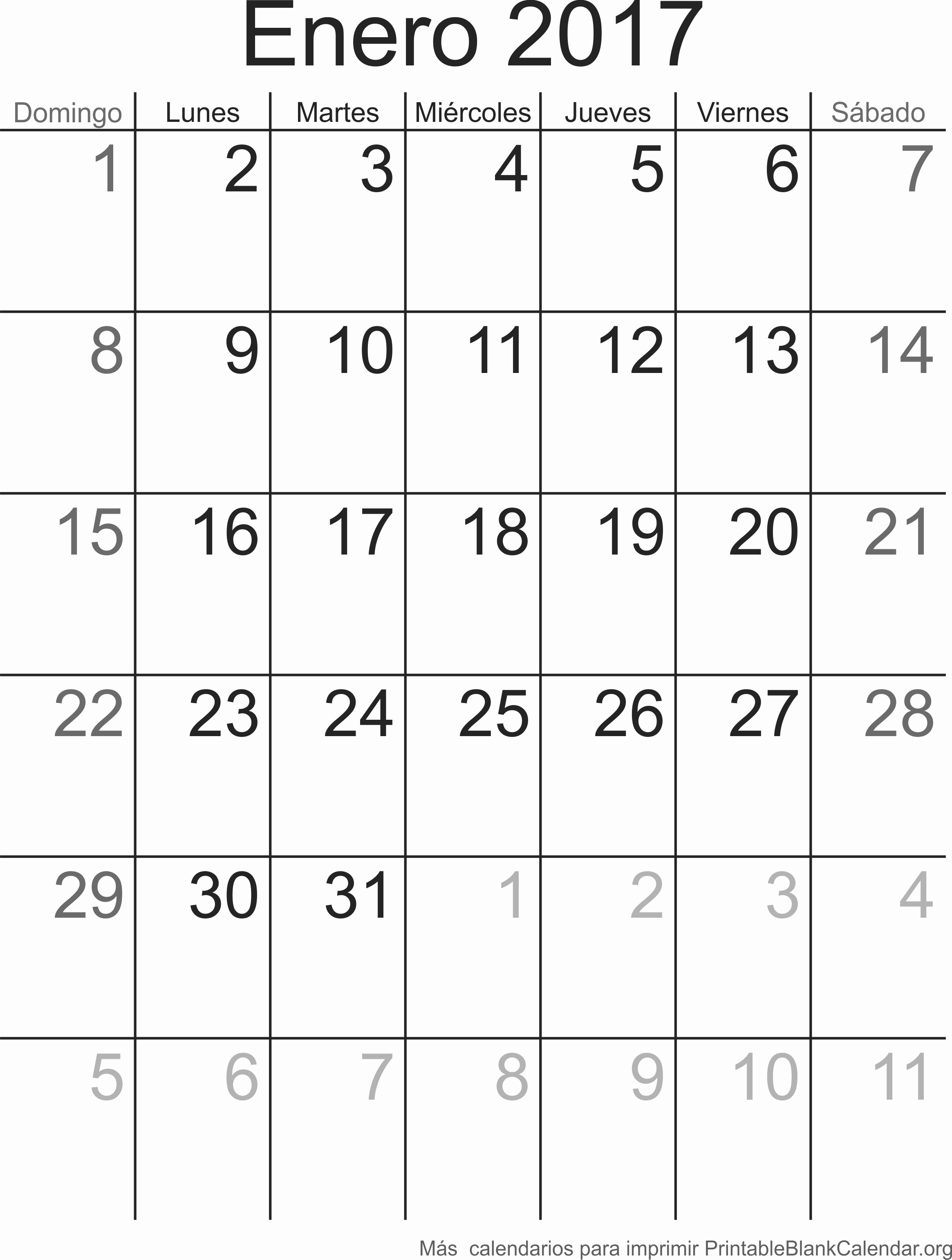 Calendario Anual 2017 Para Imprimir Inspirational Enero 2017 Calendario Para Imprimir Calendarios Para