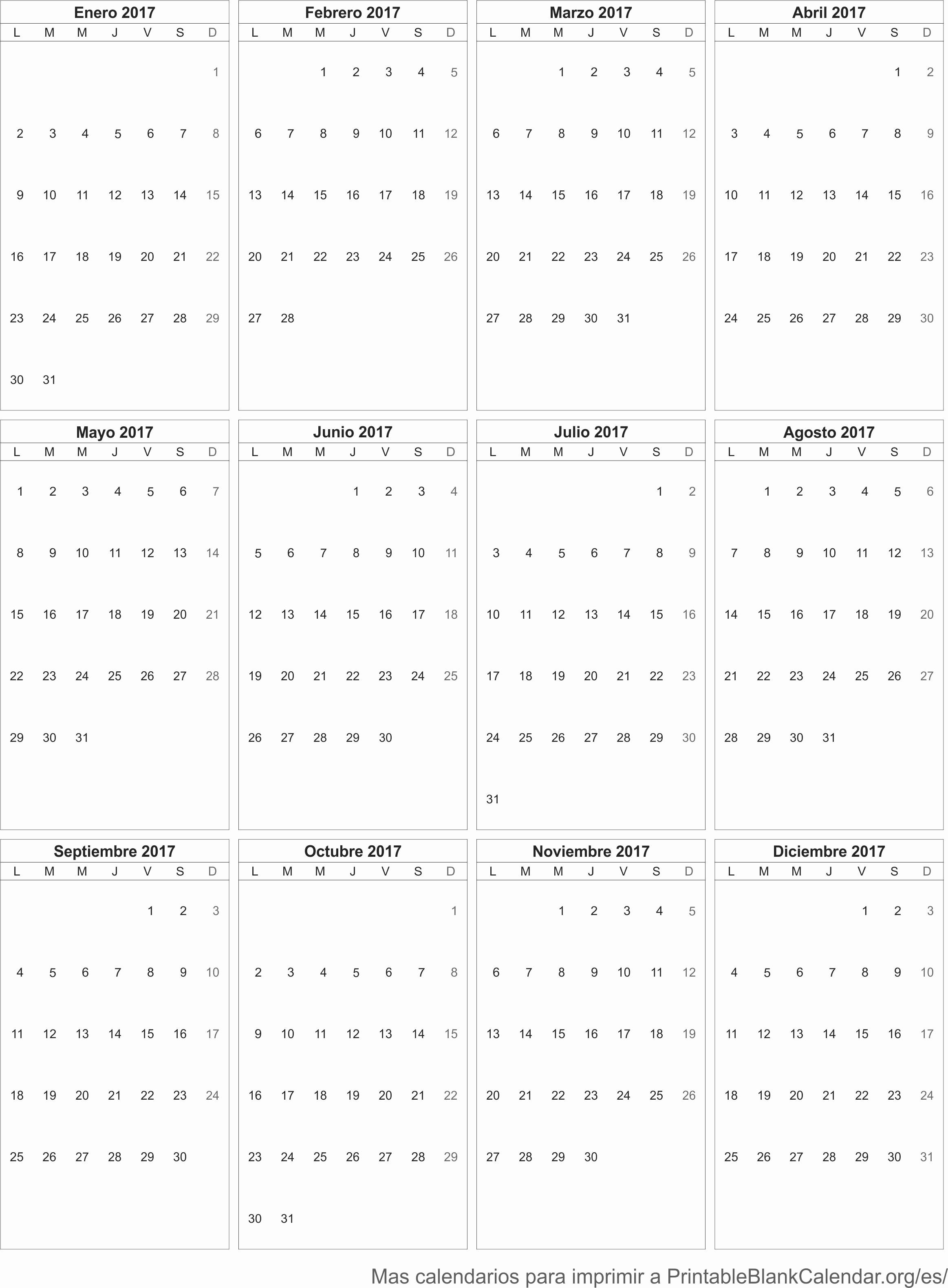 Calendario Anual 2017 Para Imprimir Lovely 2017 Calendario Para Imprimir Calendarios Para Imprimir