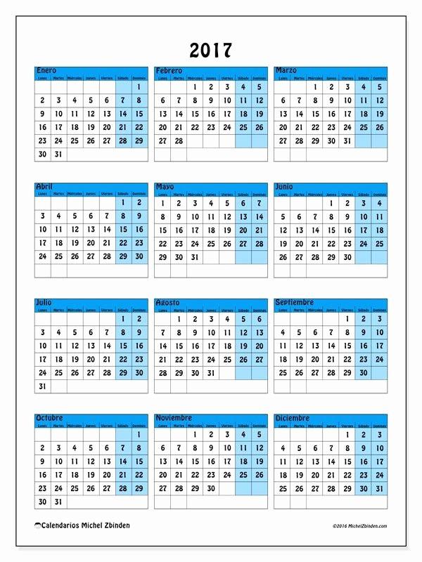 Calendario Anual 2017 Para Imprimir Lovely Calendario 2017 Para Imprimir Gratis Calendario Anual