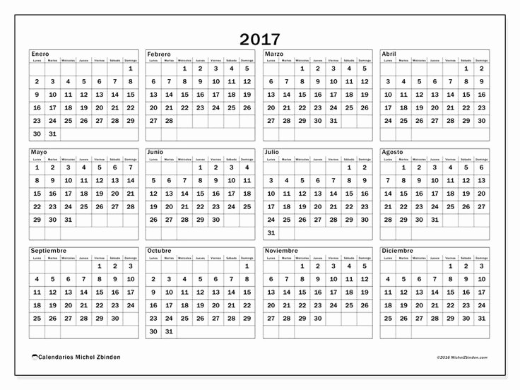 Calendario Anual 2017 Para Imprimir Lovely Más De 25 Ideas Increbles sobre Calendario Anual 2017 En