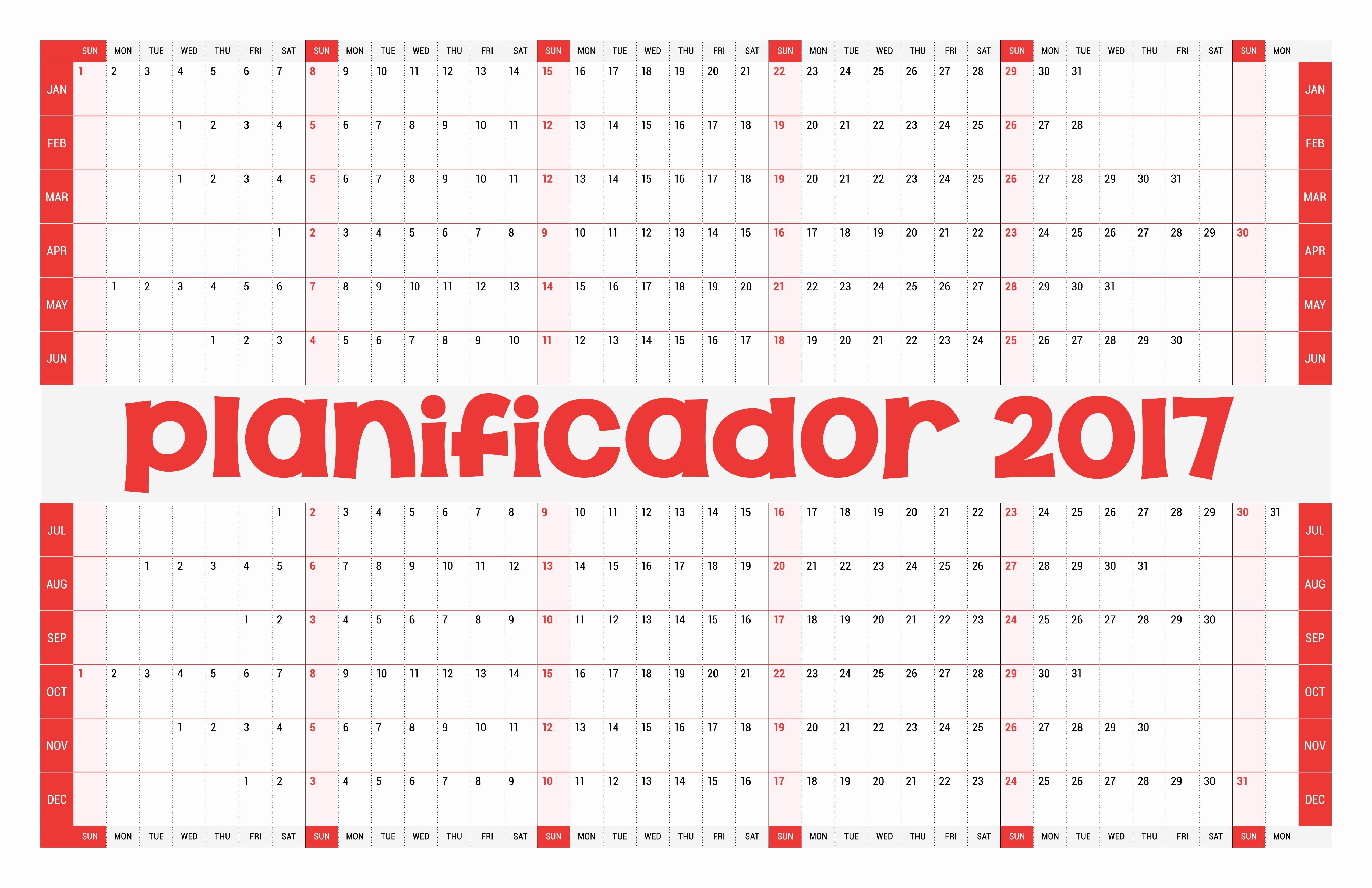 Calendario Anual 2017 Para Imprimir Unique Calendario 2017 Más De 150 Plantillas Para Imprimir Y