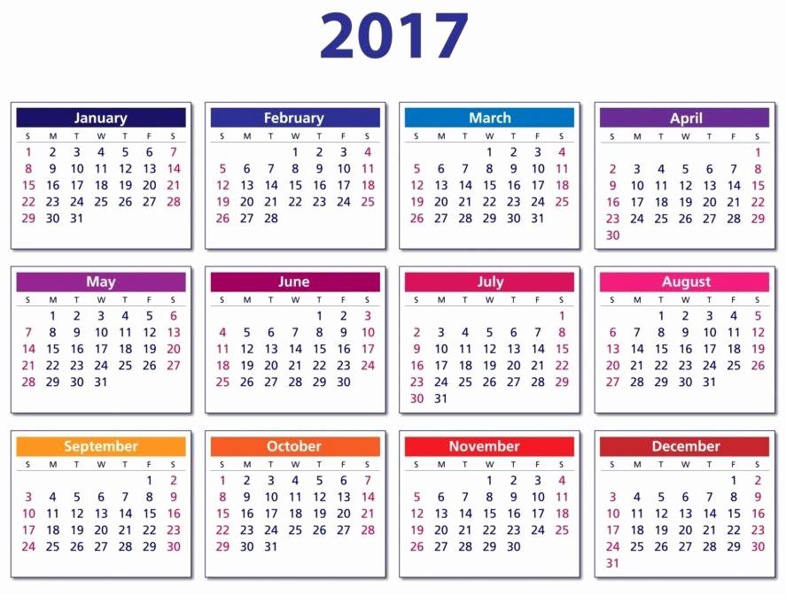 Calendario Anual 2017 Para Imprimir Unique CalendÁrio 2017 Para Imprimir Modelos