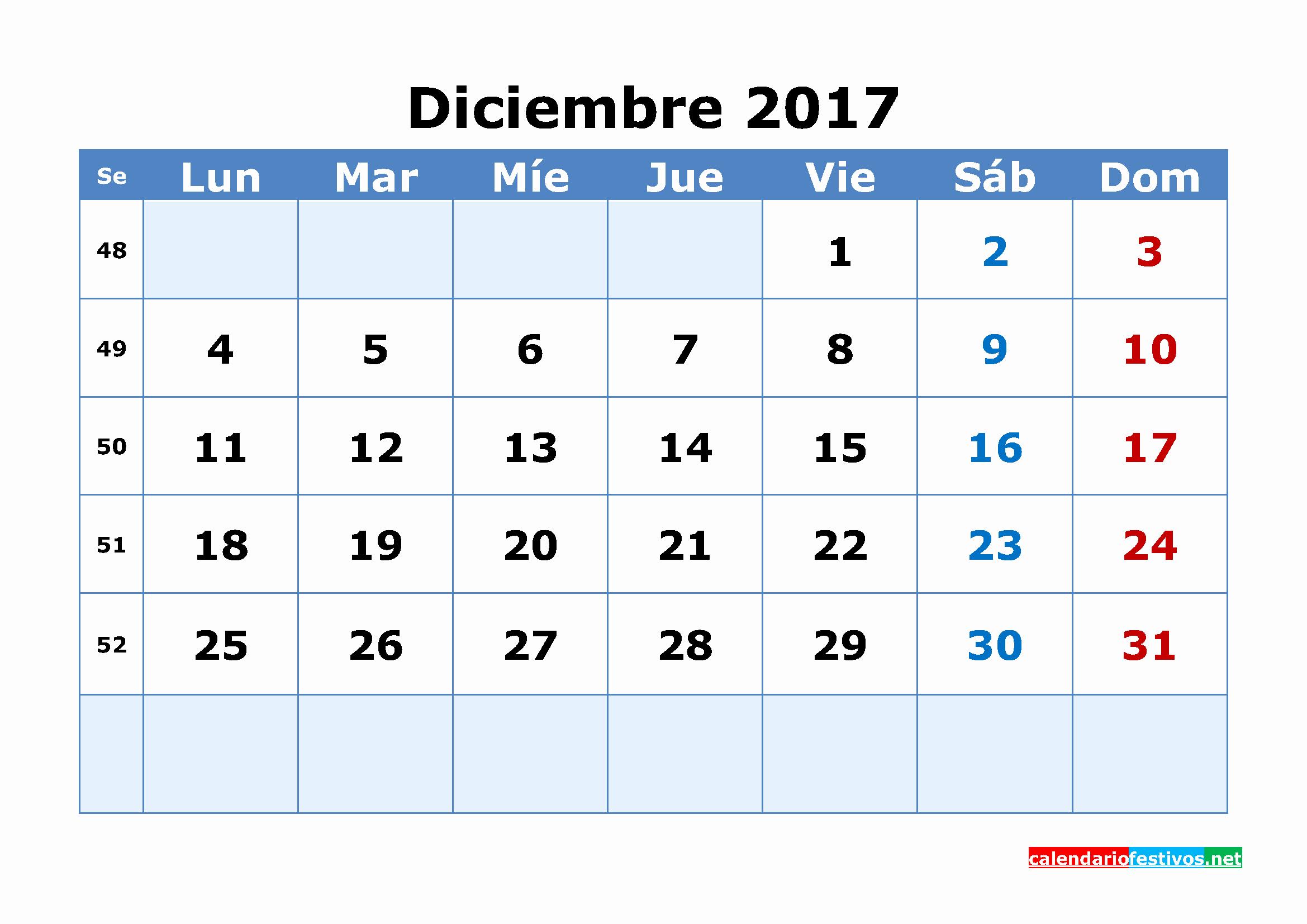 Calendario Diciembre 2017 Para Imprimir Best Of Calendario 2017 Diciembre Para Imprimir 3
