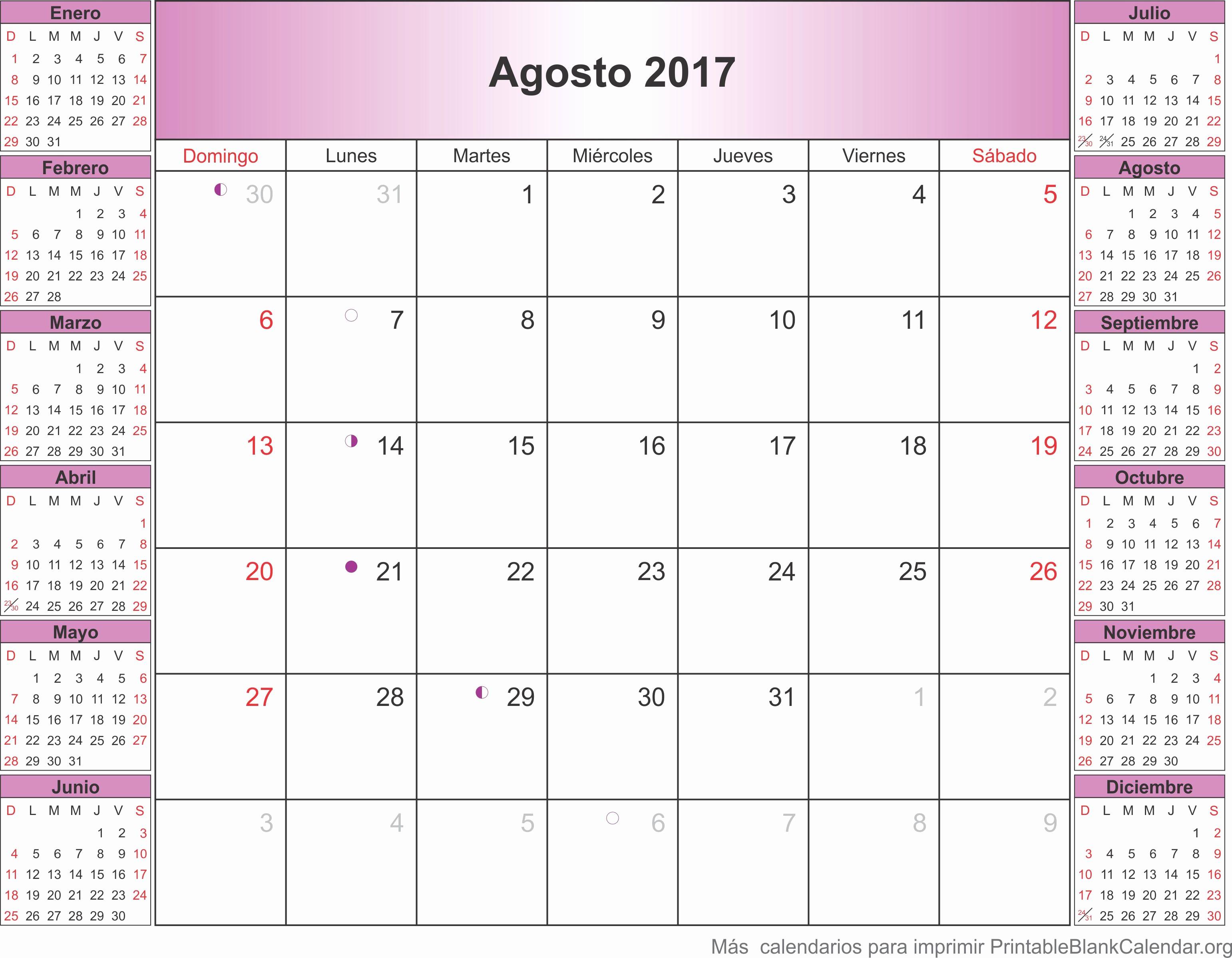 Calendario Diciembre 2017 Para Imprimir Elegant Agosto Calendario 2017 Related Keywords Agosto