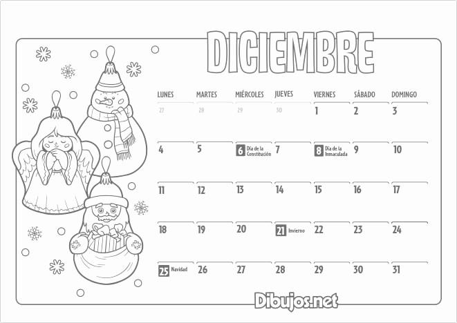 Calendario Diciembre 2017 Para Imprimir Fresh Calendario Infantil 2017 Para Imprimir Y Colorear