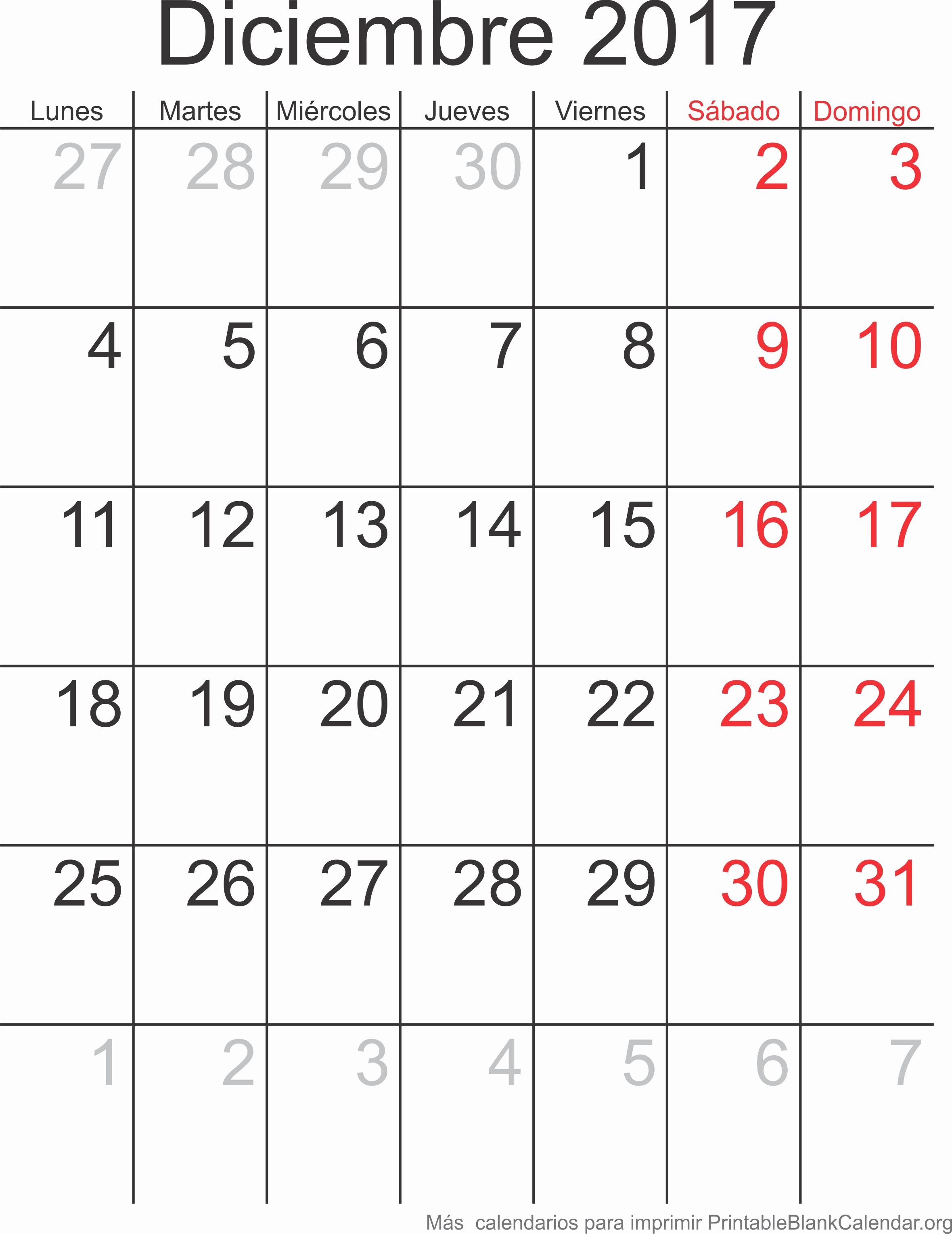 Calendario Diciembre 2017 Para Imprimir Fresh Diciembre Calendario 2017 Related Keywords Diciembre