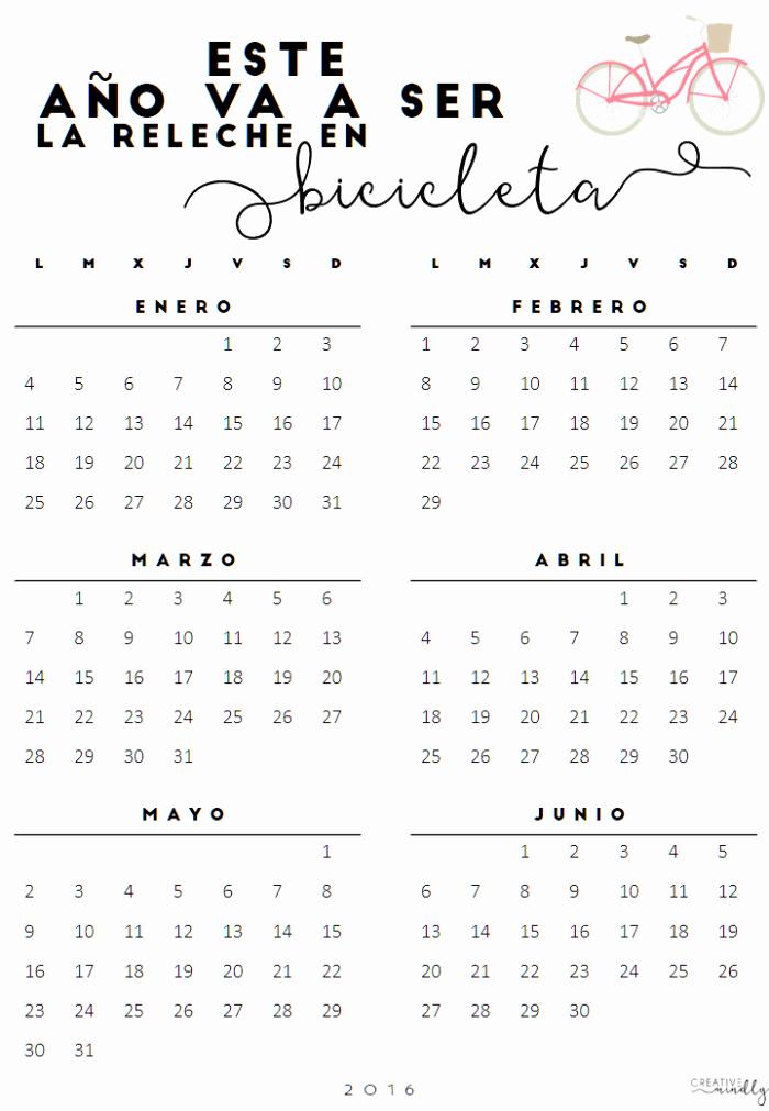 Calendario Diciembre 2017 Para Imprimir Inspirational Calendarios Gratis Bonitos 2016
