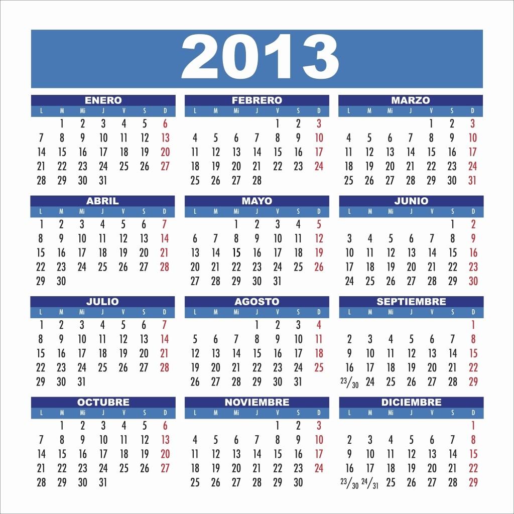 Calendario Diciembre 2017 Para Imprimir Unique Calendario 2013 Para Imprimir