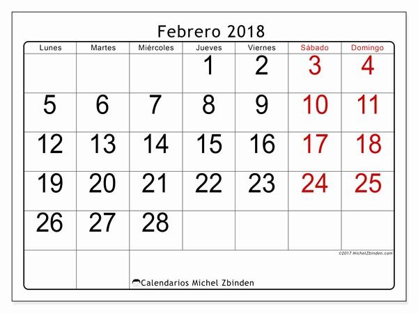 Calendario Febrero 2018 Para Imprimir Awesome Febrero Calendario 2018 Related Keywords Febrero