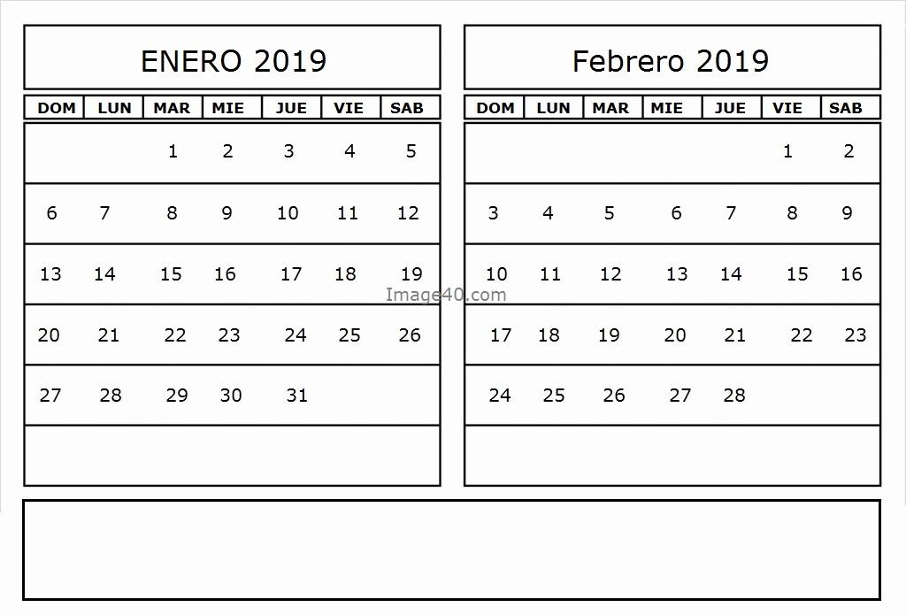 Calendario Febrero 2018 Para Imprimir Best Of Calendario Enero 2019 Para Imprimir Con Festivos Best