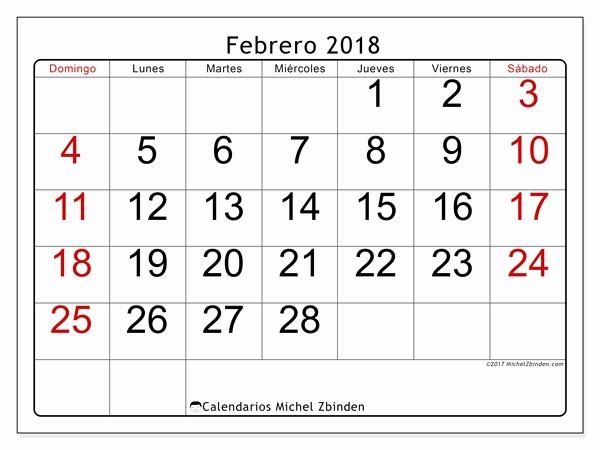 Calendario Febrero 2018 Para Imprimir Elegant Calendario Para Imprimir Febrero 2018 Emericus Argentina