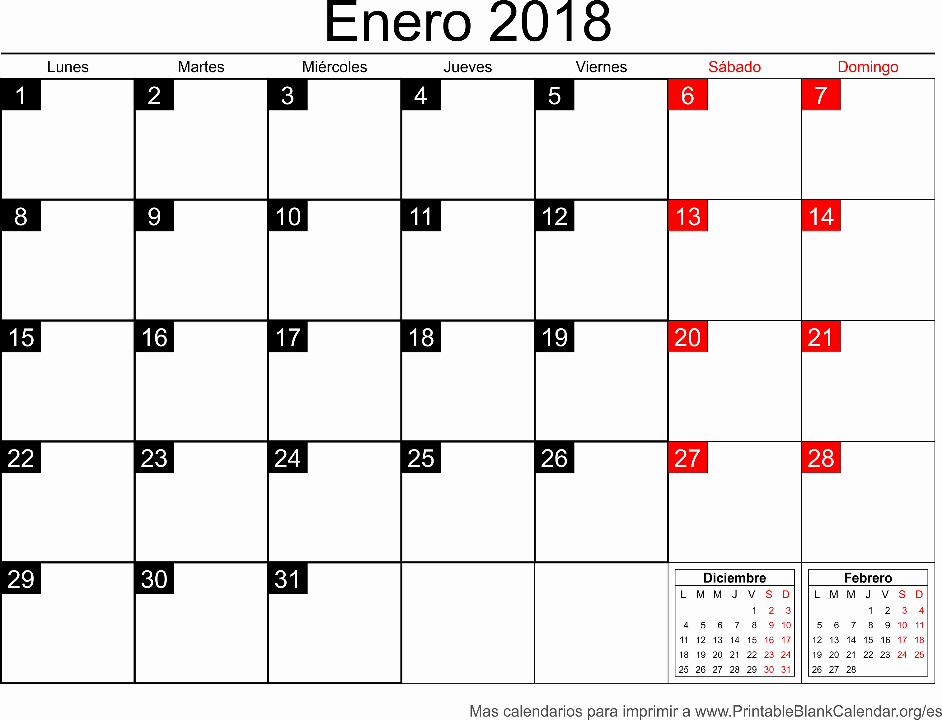 Calendario Febrero 2018 Para Imprimir Elegant Enero Calendario 2018 Related Keywords Enero Calendario