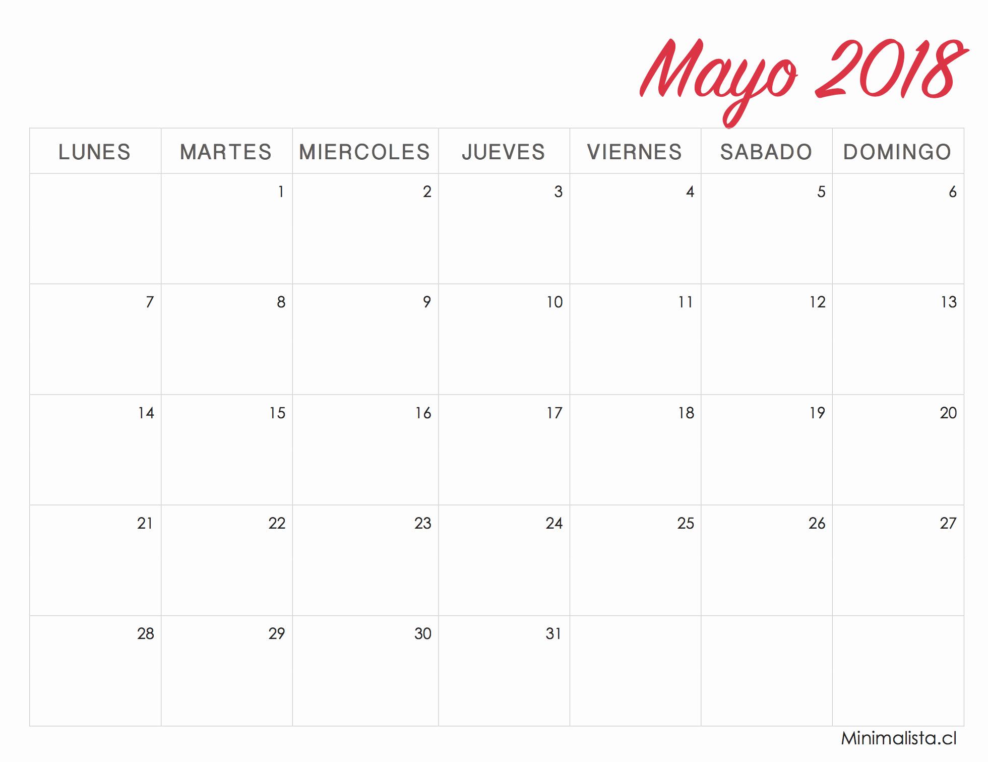 Calendario Febrero 2018 Para Imprimir Inspirational Calendarios 2018 Para Imprimir Minimalista