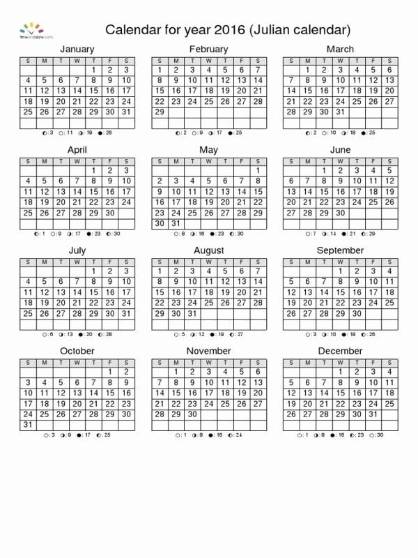 Calendario Juliano 2017 Para Imprimir Awesome Calendario Juliano 2016 Free Calendar Template