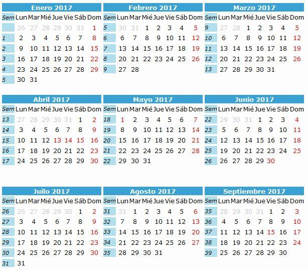 Calendario Juliano 2017 Para Imprimir New Calendario Anual 2017
