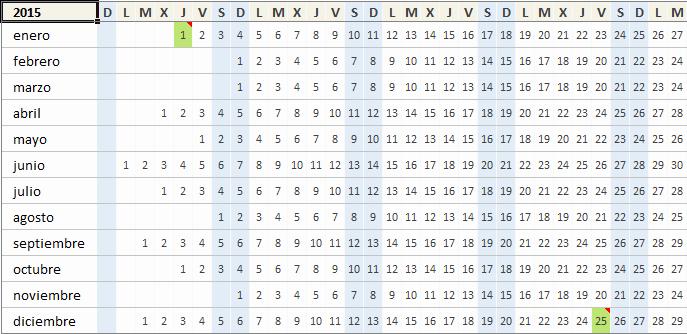 Calendario Juliano 2017 Para Imprimir Unique Calendario 2015 En Excel Excel total
