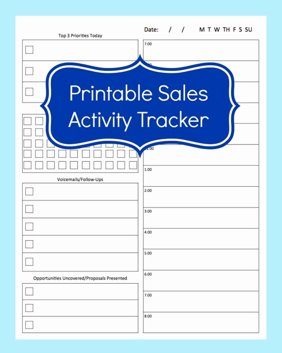 Call Sheets for Sales Reps Beautiful Sales Activity Tracker Daily Planner Cold Call Tracker