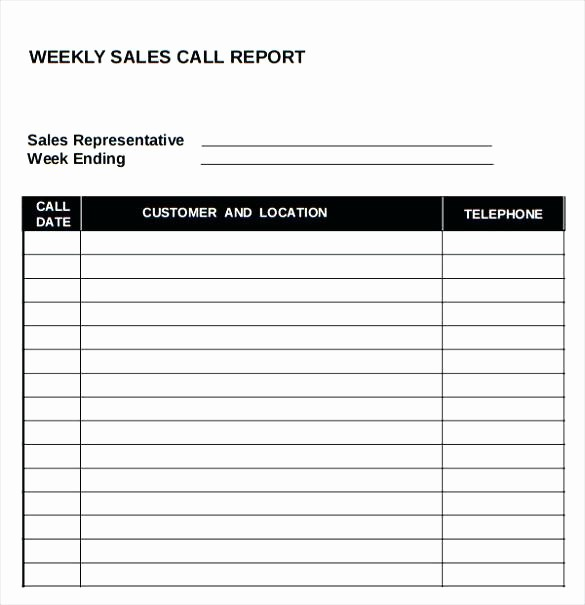 Call Sheets for Sales Reps Elegant Printable Call Log Template Sales Sheet Free – Threestrands