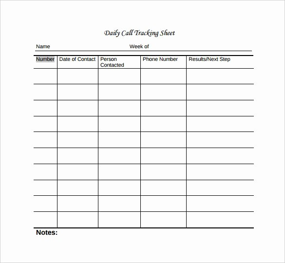 Call Sheets for Sales Reps Lovely Call Tracker Spreadsheet
